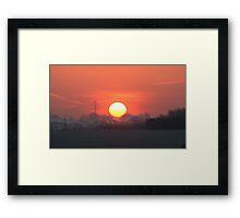 Sunset in Herefordshire Framed Print