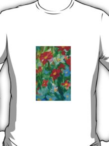 Sweet Wild Flowers Oil Painting  T-Shirt