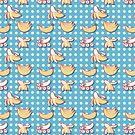 Banana Polk a Dots Pattern by SaradaBoru