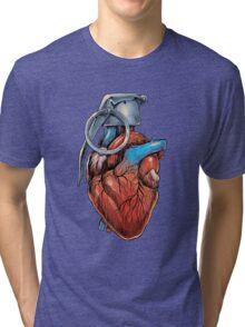 Heart Grenade Tri-blend T-Shirt