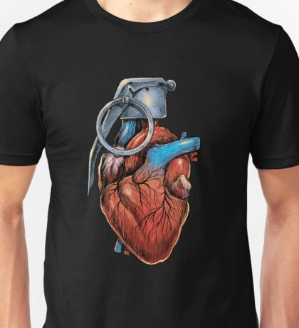 Heart Grenade Unisex T-Shirt