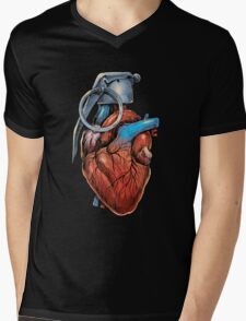Heart Grenade Mens V-Neck T-Shirt