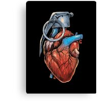 Heart Grenade Canvas Print