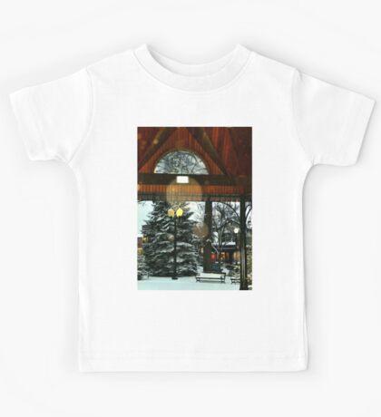 White Bear Lake, MN: Railroad Park in winter Kids Tee