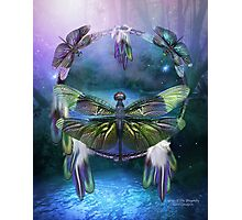 Dream Catcher - Spirit Of The Dragonfly Photographic Print