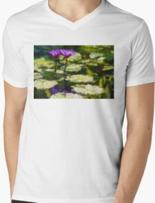 Waterlilies Impressions – Purple Duo Shimmer T-Shirt