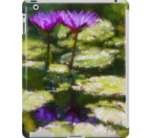 Waterlilies Impressions – Purple Duo Shimmer iPad Case/Skin