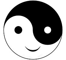 Smiley Yin Yang Photographic Print