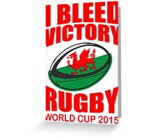 Wales Rugby Union World Cup 2015 - T Shirts, Stickers and Other Gifts Greeting Card