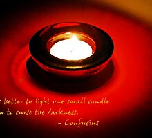 Better to light a candle... by MarjorieB