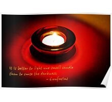 Better to light a candle... Poster