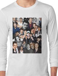 James Franco Collage Long Sleeve T-Shirt