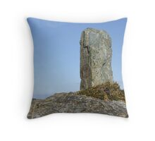 Standing Stone in Wales Holyhead Throw Pillow