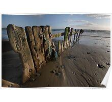 Beach Groines Garretsown Cork Poster