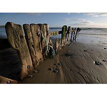 Beach Groines Garretsown Cork Photographic Print