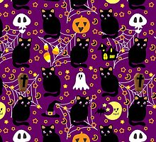 Cute Purple Halloween Pattern by SaradaBoru