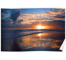 Dawn at Point Cartwright Poster