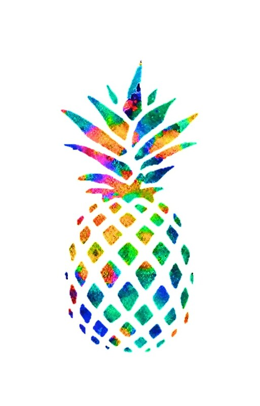 Quot Rainbow Pineapple Quot Iphone Cases Amp Skins By Erinaugusta