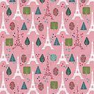 Cutesy Pink Eiffel Tower Pattern by SaradaBoru