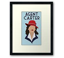 Agent Carter Minimalist w/ words Framed Print