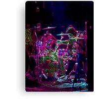 Laser Drummer Canvas Print