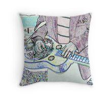 Steel Guitar Throw Pillow