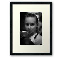 she fight Framed Print