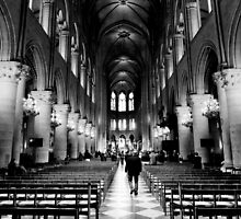 Approach the altar - Notre Dame Cathedral, Paris, France by Norman Repacholi