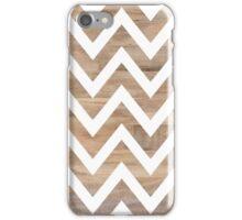 woodgrain chevron iPhone Case/Skin