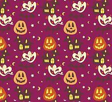 Cutesy Colorful Halloween Pattern by SaradaBoru