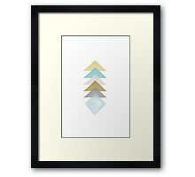 Watercolor Abstract Triangles Framed Print