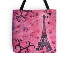 Eiffel Tower in Pink Tote Bag