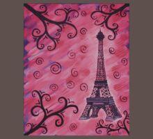 Eiffel Tower in Pink One Piece - Short Sleeve