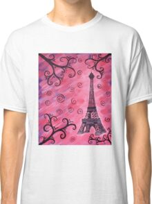 Eiffel Tower in Pink Classic T-Shirt