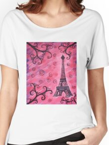 Eiffel Tower in Pink Women's Relaxed Fit T-Shirt