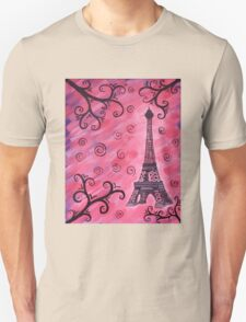 Eiffel Tower in Pink T-Shirt