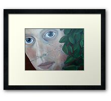 A Crab Spider and Me Framed Print