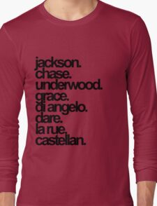 Percy Jackson And the Olympians characters Long Sleeve T-Shirt