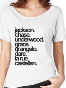Percy Jackson And the Olympians characters Women's Relaxed Fit T-Shirt