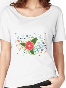 Tropical Flower and Floral Ornament 2 Women's Relaxed Fit T-Shirt