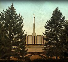 Provo Temple - East Side by Ryan Houston