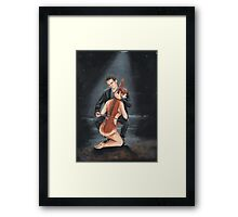cello player Framed Print