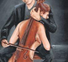 cello player Sticker