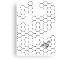 Beehive and Bee Canvas Print