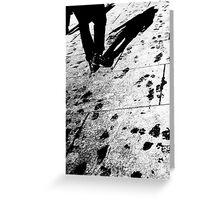 Water tracks Greeting Card