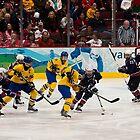 Olympic Hockey: Team Sweden vs Team USA by David Friederich