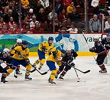 Olympic Hockey: Team Sweden vs Team USA by David Friederich