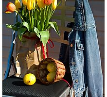 Tulips in a Lunch Bag by Valentina Gatewood