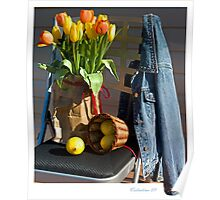 Tulips in a Lunch Bag Poster