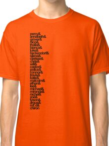 Percy Jackson and the Olympians Characters Classic T-Shirt